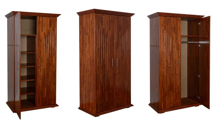 ECO-P1 (100x210cm, beech, stained mahogany, lacquered)
